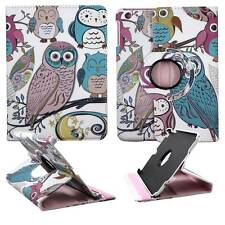 Tablet Blue Pink Multi Owl For Apple Ipad Mini 360 Rotating Case Cover Stand