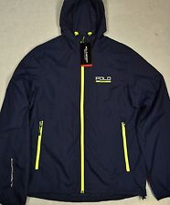 Polo Sport Ralph Lauren Windbreaker Performance Hooded Jacket Navy S NWT $99
