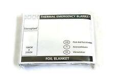 Emergency Thermal Heat Reflecting Foil Blanket 130cm x 210cm Quantity 5