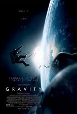GRAVITY Advance DOUBLE SIDED ORIGINAL MOVIE film POSTER George Clooney Space