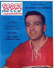 1959 (Nov.) Sport Revue, Hockey, magazine, Bernard Geoffrion, Montreal Canadiens