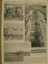 Photo article how the USAF makes use of Marston Strips to create runways 1942