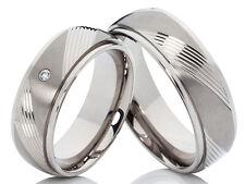 2 Anelli Diamanti Fedi Nuziali Di Fidanzamento & Incisione