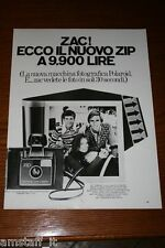 AL2=1972=POLAROID LAND CAMERA ZIP=PUBBLICITA'=ADVERTISING=WERBUNG=