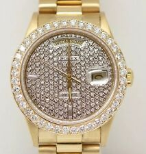 ♛ROLEX♛ Day-Date 18kt Presidential Pave Diamond Dial 2.5ct Bezel - 18038