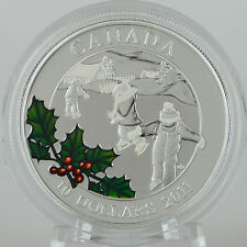 Canada 2011 $10 Little Skaters 1/2 Troy oz. Pure Silver Color Proof Coin