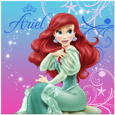 Little Mermaid Sparkle Ariel Birthday Party Supplies Large Lunch Napkins