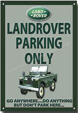 LANDROVER Parcheggio Solo Metallo Segno .4x4 OFF viabilità. JEEP.
