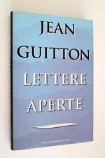 Jean Guitton LETTERE APERTE libro religione filosofia