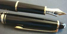 stylo plume MONTBLANC 144 Meisterstuck noir/or.plume M 14k bicolore.N°DB1249...
