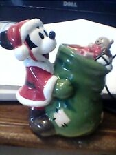 Disney Christmas Holiday Minnie and Mickey Mouse Santa Candle Stick Holders