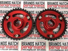 Ford Sierra Escort RS YB Cosworth Vernier Cam Adjustable Pulleys RED BLACK PAIR