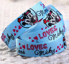 "Wholesale 20 Yards 5/8""16mm printed Mickey Mouse Grosgrain Ribbon S16"