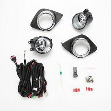 For 2009-2012 Toyota RAV 4 RAV4 Clear Lens Fog Lights Kit w/Bezel Switch Bulbs