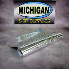"""Mini Diamond Plate Sign Vinyl 24"""" x 1 LINEAR FOOT  Great for Race Cars, Decals"""