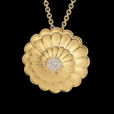 "Carrera y Carrerra ""AFRODITA"" 18K Yellow Gold Diamond Pendant Necklace NEW"