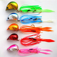 5pcs Lot Lead Lure Rubber Jig Bait Tackle Fishing Lures 40g Seawater Spinnerbait
