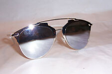 NEW CHRISTIAN DIOR REFLECTED/S 85L-DC WHITE/SILVER MIRROR SUNGLASSES AUTHENTIC