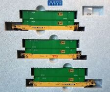 KATO 1066174 N MAXI-IV TTX New Logo 3 Well Car Set w 6 EMP Containers 106-6174
