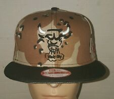 New Era Chicago Bulls Camo Supreme Jordan V Matching Snapback Hat Cap