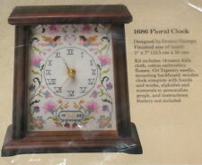 "1988 Donna Giampa Angels ""Floral Wood Clock"" Cross Stitch Kit NIP"