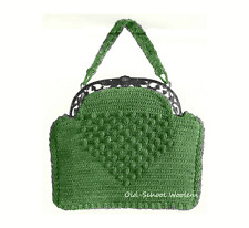 5-9 1930s Purse Handbag Bag Vintage Crochet Pattern Reproduction Copy