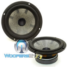 "FOCAL HOME AUDIO 6W4356 6.5"" MIDRANGE SPEAKERS MADE IN FRANCE PAIR NEW"