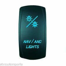 BLUE 20A 12V ROCKER SWITCH LASER ETCHED NAV/ANC LIGHTS MARINE CARLING