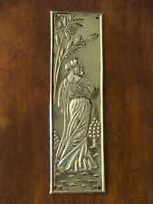 10 X RECLAIMED BRASS ART NOUVEAU FINGER DOOR PUSH PLATE FINGERPLATE