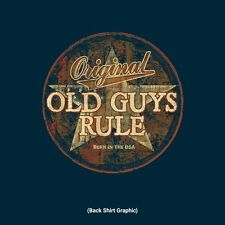 "OLD GUYS RULE ""  AMERICANA STAR  "" BORN IN THE USA S/S SIZE L NAVY COLOR T-SHIRT"