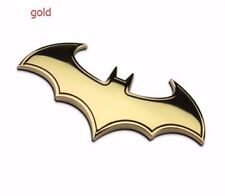1pcs New Car Auto Logo 3D Metal stickers Emblem Badge Decals Batman bat gold zaq