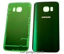 """OEM Glass Battery Back cover For Samsung Galaxy S6 EDGE """"SS LOGO GREEN"""" US"""