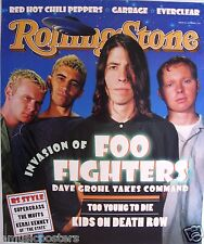 """FOO FIGHTERS """"GROUP & U.F.O.'s ON 1995 ROLLING STONE"""" PROMO POSTER"""