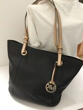 MICHAEL KORS Jet Set Black Large Leather Tote Bag FREE SHIPPING