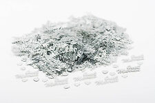 JUST MARRIED Silver Wedding Confetti Table Decoration Scatter Sprinkles