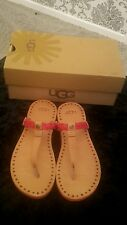 ugg bria red sandals bnwt