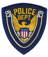 Generic POLICE DEPT patch. Great for theatre, costumes, kid's collection.