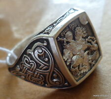ring men  silver 925 st George consecrated to the relics of st George size 10.5