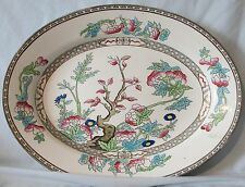 "J & G Meakin Multi Colored Indian Tree 14"" Platter circ 1900"