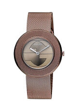 New Gucci U-Play Brown PVD Mesh Bracelet Women's 29mm Watch YA129520
