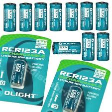 12 X Genuine Olight RCR123A (16340) Li-ion protected rechargeable batteries arlo