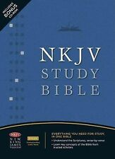 The NKJV Study Bible by Thomas Nelson Publishing Staff (2008, Bonded Leather)