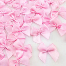 Lots 50pcs Mini Satin Ribbon Flowers Bows Wedding Decoration Gift Craft DIY