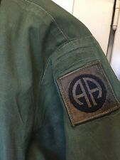 Vintage 1969's Vietnam War US Army 82 nd Airborne OG 107 Poplin Uniform Jacket.