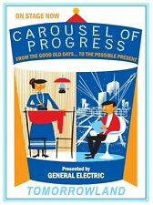 "VINTAGE DISNEY CAROUSEL OF PROGRESS POSTER 8.5"" x 11"""
