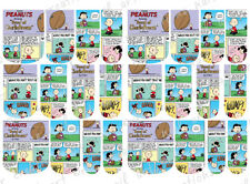 24 WATER SLIDE NAIL ART DECALS * GOOD OLE CHARLIE BROWN COMIC * FULL NAIL COVER