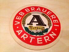 -Bierdeckel-VEB Brauerrei. Artern Barbarossa (Goldaue)