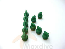 MAXDIVE 10pcs/bag Scuba Valve Seat Assembly Teflon Coated PEEK Insert # VS10BK-A