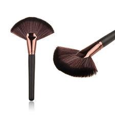 Makeup Fan Shape Pro Cosmetic Brush Blending Highlighter Contour Face Powder HS