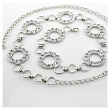 Plata diamante/diamond señoras Cintura chain/charm Belt - One Size Fits All - 211